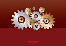 Metallic Gears Technology Background Royalty Free Stock Images