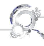 Metallic gears vector background
