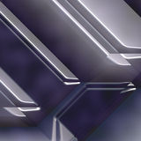 Metallic geometry Stock Images