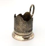 Metallic glass-holder. Royalty Free Stock Image