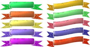 Metallic Glitter Banners Royalty Free Stock Image