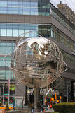 Metallic Globe - New York City. Photo of the Globe in Manhattan, copy of the bigger Unisphere in the borough of Queen, New York Stock Image