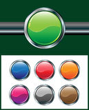 Metallic glossy web buttons Royalty Free Stock Photos