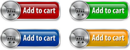 Electronic commerce web desogn elements Stock Photo