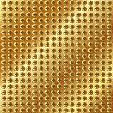 Metallic gold background with screws Royalty Free Stock Photos