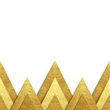Metallic gold paper border background. Vector background with metallic paper cut out border - realistic hand made elements of gold foil with shadow and copy Stock Image