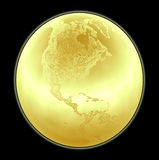 Metallic golden globe illustration royalty free stock photo