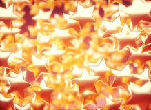 Metallic Golden Stars Royalty Free Stock Photography