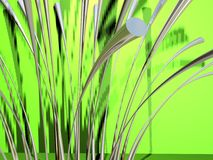 Metallic grass 2 Stock Photo