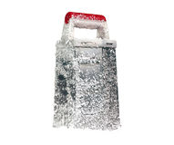 Metallic grater in the snow Royalty Free Stock Image