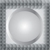 Metallic gray circle for background, vector illustration eps10 Stock Photo