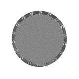 Metallic gray circle Stock Images