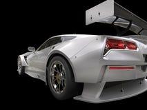 Metallic gray endurance sports car - taillight shot. Metallic gray endurance sports car - taillight closeup shot Royalty Free Stock Photos