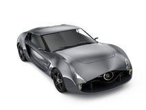 Metallic gray sports car  on gray background. Original design Stock Image