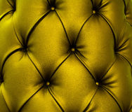 Metallic Yellow Leather Texture. Leather texture metallic green colored Royalty Free Stock Image
