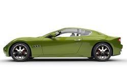 Metallic Green Modern Fast Car Stock Image
