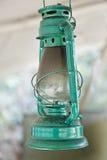 Metallic green oil lantern Stock Photo