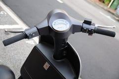 Metallic grey Scooter Royalty Free Stock Image