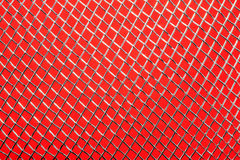 Metallic grid on red Stock Images