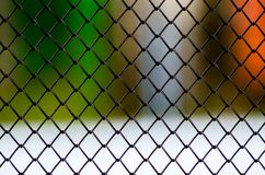 Metallic Grid on the white backgraund stock photo