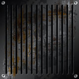 Metallic grille rusty Royalty Free Stock Photo