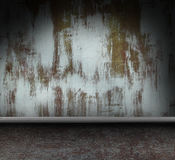 Metallic grunge interior Stock Image
