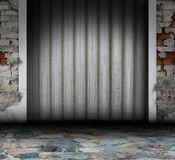Metallic grunge interior Royalty Free Stock Image