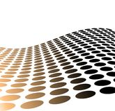 Metallic Halftone Dots For Background Use Stock Photos
