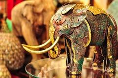 Metallic Handmade Elephant. For Home Decoration or Interior Design Stock Image
