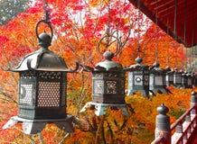 Metallic hanging lanterns Royalty Free Stock Images