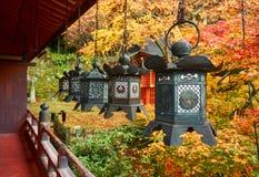 Metallic hanging lanterns Royalty Free Stock Image