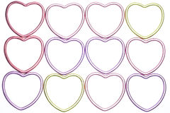 Metallic Heart Abstract Background Stock Images