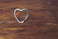 Metallic heart Stock Photos