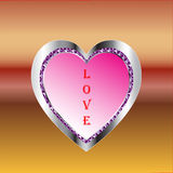 Metallic Heart in Love Stock Images