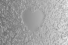 Metallic Heart. For Lover Concept Royalty Free Stock Photo