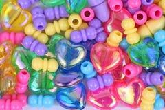 Metallic Heart Plastic Toy Jewelry Kit Stock Image