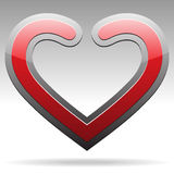 Metallic heart sign Royalty Free Stock Photos