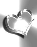 Metallic heart Royalty Free Stock Photos