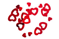 Metallic hearts Stock Photos