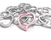Metallic hearts Royalty Free Stock Photos