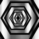 Metallic hexagonal illusion background Royalty Free Stock Photos