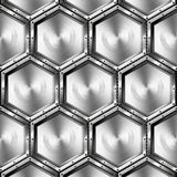 Metallic Hexagons Background Royalty Free Stock Photography