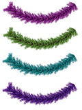 Metallic Holiday Garland Stock Images