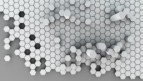 Metallic honeycomb abstract. Structure background 3d illustration. high resolution Stock Images