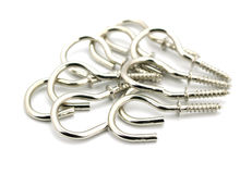 Metallic hook screws Stock Photography