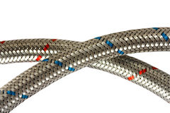 Metallic hoses Stock Images