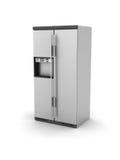 Metallic ice chest Stock Photo