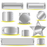 Metallic icons Royalty Free Stock Photo