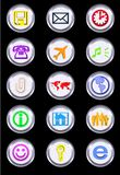 Metallic Icons royalty free illustration