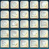 Metallic Icons Royalty Free Stock Photos